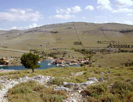 The village Vrulje at the island Kornat in Croatia Stock Photo - 4058061