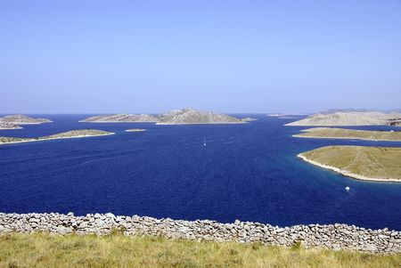 The kornati national park in Croatia
