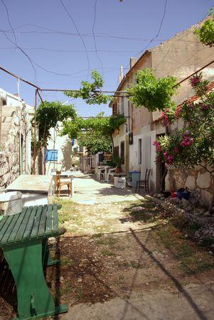 kornat: a street in the small village Vrulje at Kornat in Croatia