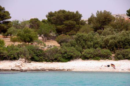 Lojena bay of teh island Levrnaka in Croatia photo