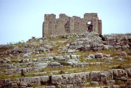 kornat: Roman ruin at the Croatian island Kornat Stock Photo