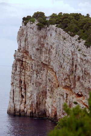 lopsided: The cliffs of Dugi Otok in Croatia