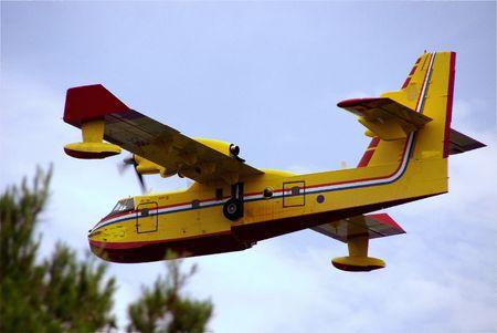 coastguard: A fire prevention aeroplane Stock Photo