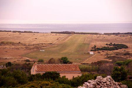runways: The airfield of the island Unije in Croatia