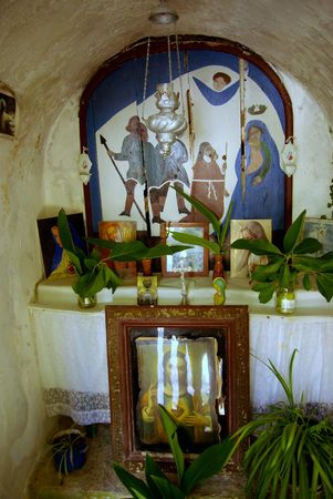 The interior of a chapel in Croatia photo