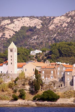 Rab with the bell tower of St John in Croatia Stock Photo - 4097203