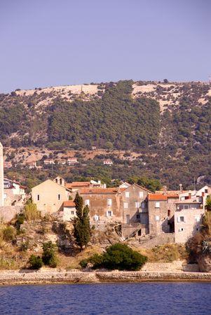 Houses in Rab at the island Rab in Croatia Stock Photo - 4097200