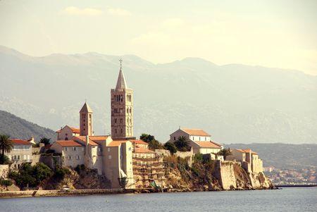 Rab town at the island Rab in Croatia Stock Photo - 4097110