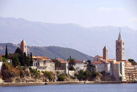 Rab town at the island Rab in Croatia Stock Photo - 4097113