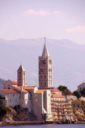 Rab town at the island Rab in Croatia photo
