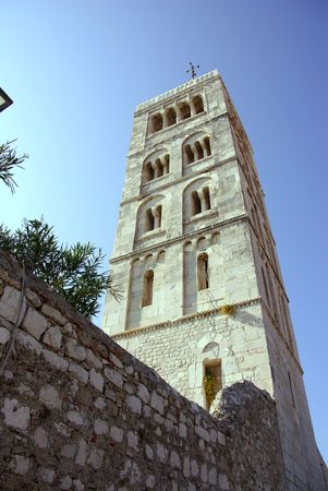 The bell tower of St Ann in Rab town at the island Rab in Croatia Stock Photo - 4097202