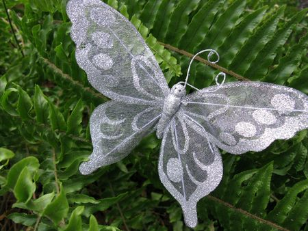 lacework: A butterfly of lacework as a decoration Stock Photo