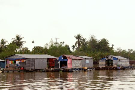Floating village in the mekong delta in Vetnam Stock Photo - 4288236