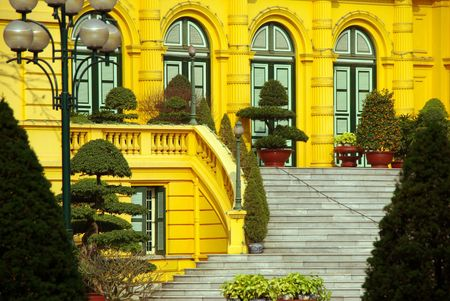 The presidential palace in Hanoi in Vietnam