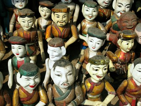 Puppets of the water puppet theatre in Hanoi