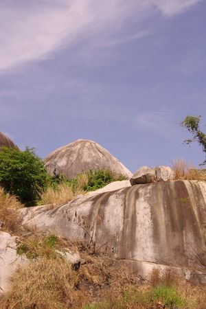lopsided: Rocky landscape in the south of Vietnam