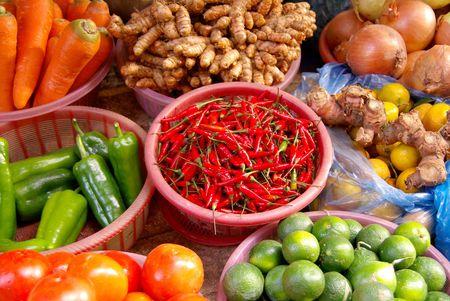 Several vegetables