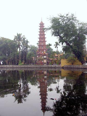 The Tran Quoc pagoda in Hanoi in Vietnam Stock Photo - 4329778