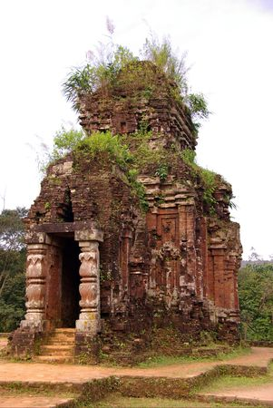 The complex of champa atchitecture in My Son in Vietnam Stock Photo