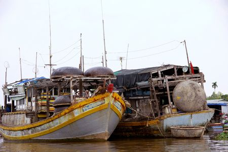 fishingboats: Moored fishing ships