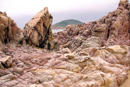 qui: The colorful rocks at the coast of Qui Nhon in Vietnam