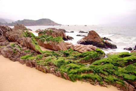 qui: The coast of Qui Nhon in Vietnam Stock Photo