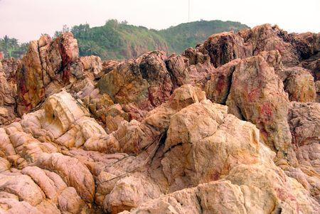qui: Colorful rocks at the coast of Qui Nhon in Vietnam