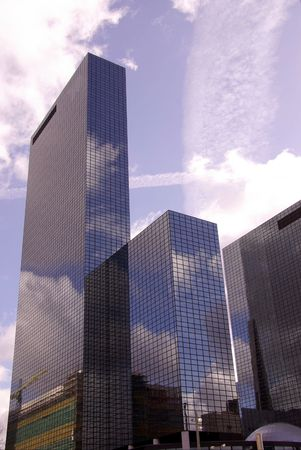 Skycrapers of glass photo