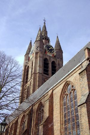 The old church in Delft in the Netherlands Stock Photo - 4508738