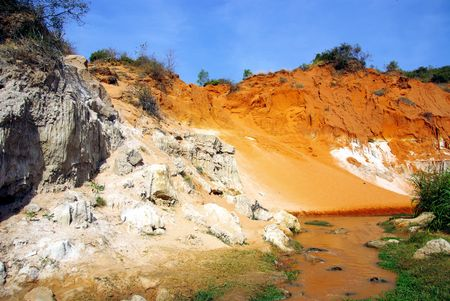 The Ham Tien canyon in Vietnam photo