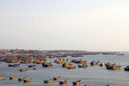 ne: Fishing boats at Mui Ne in Vietnam
