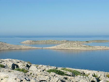 kornat: The Kornati national park in Croatia seen from Smocvica Stock Photo