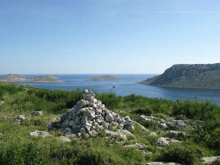 kornati national park: The Kornati national park in Croatia seen from Smocvica Stock Photo
