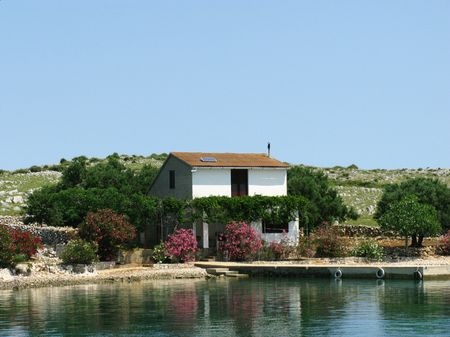 A house at the Croatian island Svrata photo
