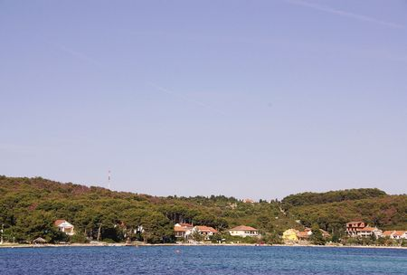 The village Brgulje at the Croatian island Molat photo