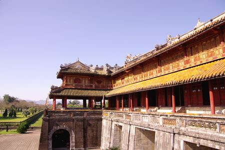 hue: The entrance of the citadel in Hue in Vietnam