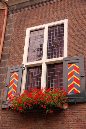 A detail of the old city hall of Vlaardingen in the Netherlands photo