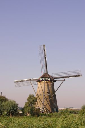 watermills: A mill at Kinderdijk in the Netherlands