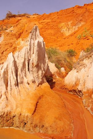 The canyon of Ham Tien in Vietnam photo