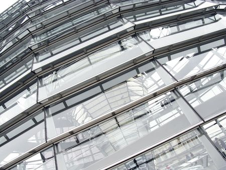 The exterior of the dome of the Reichstag building in Berlin photo