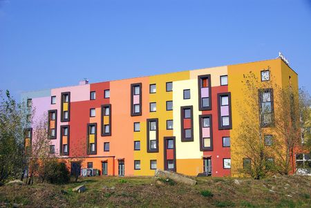 Colorful modern architecture
