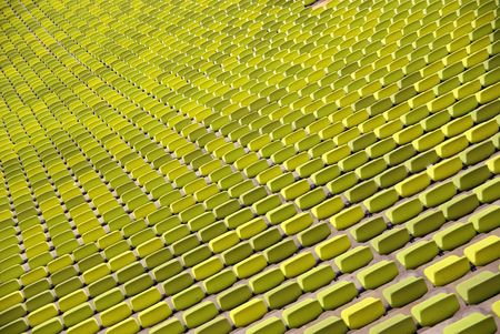 Green chairs in a stadium Stock Photo - 5828973