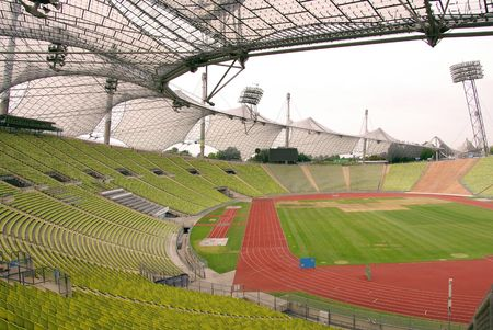 The olympig stadium in Munich in Germany Stock Photo