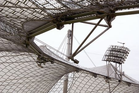 The roof of the olympic stadium in Munich in Germany
