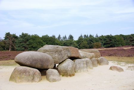 erratic: dolmen, megalithic tomb in the Netherlands