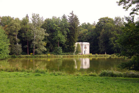 nymphenburg palace: The pagodenburg in the park of the Nymphenburg palace in Munich in Germany