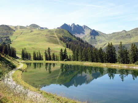 fuegen: A lake in the Austrian Alps