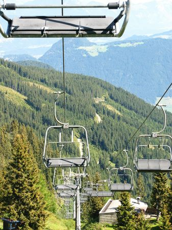 fuegen: A chair lift in the Austrian Alps