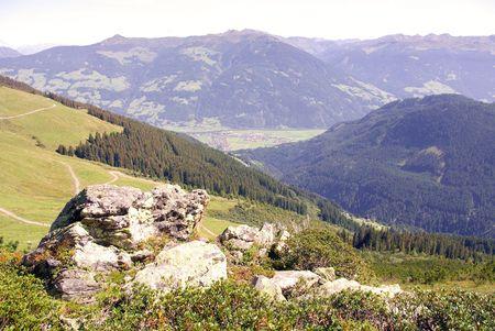 The mountains of the Austrian Alps Stock Photo - 5856179
