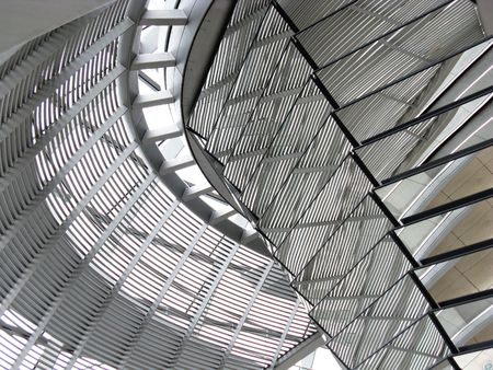 A detail of the dome of the parliament building in Berlin